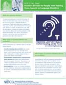 Assistive Devices for People with Hearing, Voice, Speech, or Language Disorders
