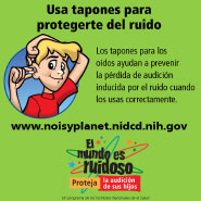 Put a Plug in the Noise: Instructions for Using Earplugs (Spanish)